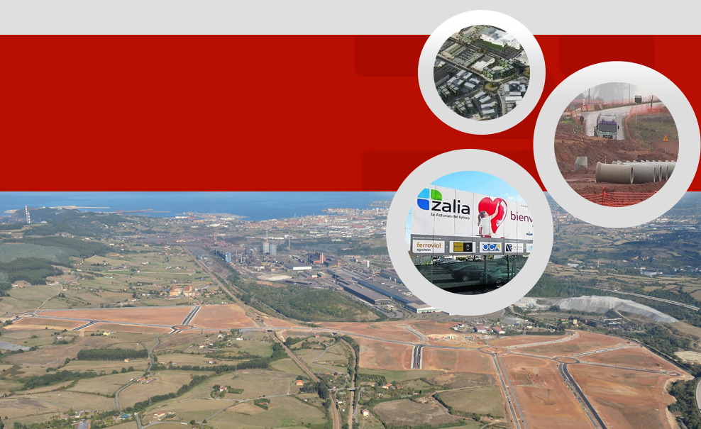 Logistic and industrial area in Asturias